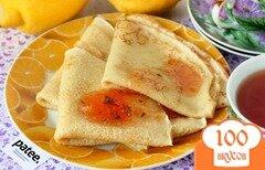 Фото рецепта: «Заварные лимонные блины»