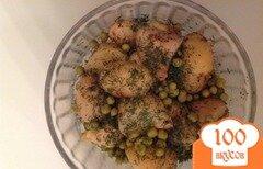 Фото рецепта: «Теплый картофельный салат с пряными травами и горошком»