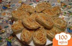 Фото рецепта: «Рулет с печенью и морковью»