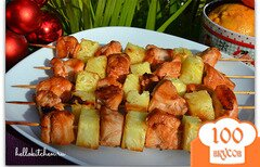 Фото рецепта: «Шашлык из курицы с ананасом»