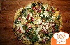 Фото рецепта: «Греческая пицца с сыром фета»