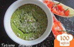 Фото рецепта: «Нежный флан из брокколи с креветками»