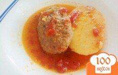 Фото рецепта: «Котлеты по-восточному, тушёные в томатной подливке»