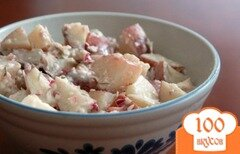 Фото рецепта: «Картофельный салат с соусом»