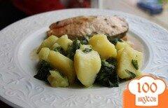 Фото рецепта: «Картофель со шпинатом»