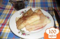 Фото рецепта: «Рисовые блины с малиновым сиропом»