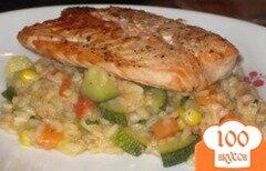 Фото рецепта: «Ризотто с жареным лососем»