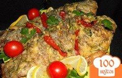 Фото рецепта: «Караси запеченные под сыром и сметаной»