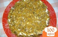 Фото рецепта: «Печеночный торт с шампиньонами»