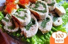 Фото рецепта: «Рыбный рулет со шпинатом»