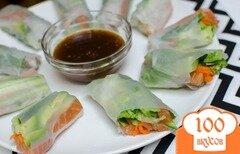 Фото рецепта: «Спринг-роллы с лососем»
