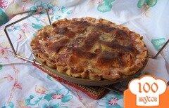 Фото рецепта: «Персиковый пирог со сливками»