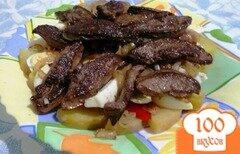 Фото рецепта: «Теплый салат с печенью»
