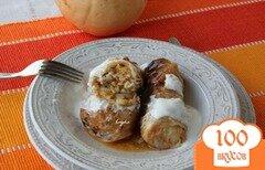 Фото рецепта: «Голубцы с тыквой, запечённые в соусе»