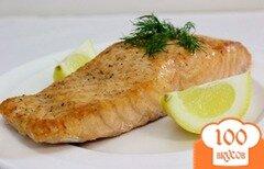 Фото рецепта: «Стейк из лосося в духовке»