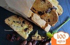 Фото рецепта: «Бискотти с лесным орехом и сушеной клюквой»
