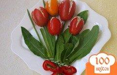 """Фото рецепта: «Закуска """"Букет тюльпанов""""»"""