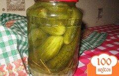 Фото рецепта: «Кисло - сладкие консервированные огурцы»