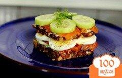 Фото рецепта: «Большой бутерброд с семгой»