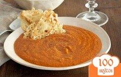 Фото рецепта: «Томатный суп с чесночными гренками»