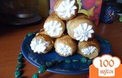 Фото рецепта: «Слоеные трубочки с белковым заварным кремом»