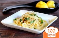 Фото рецепта: «Лимонная паста с пармезаном»