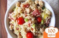 Фото рецепта: «Салат из киноа с салями»