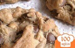 Фото рецепта: «Арахисовое печенье с шоколадом»