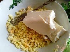 «Паста из сыра тофу и подкопченной форелью» - приготовления блюда - шаг 3