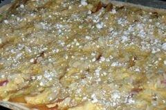 «Пирог с творогом и свежими персиками» - приготовления блюда - шаг 5