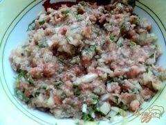 «Блины с припеком или фальшивые чебуреки» - приготовления блюда - шаг 3