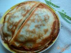 «Блины с припеком или фальшивые чебуреки» - приготовления блюда - шаг 6