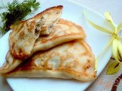 «Блины с припеком или фальшивые чебуреки» - приготовления блюда - шаг 7