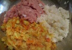 «Лодочки из кабачков запеченные в духовке» - приготовления блюда - шаг 12