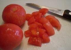 «Лодочки из кабачков запеченные в духовке» - приготовления блюда - шаг 7