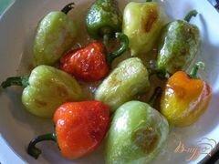 «Жареный болгарский перец с чесноком и зеленью» - приготовления блюда - шаг 3