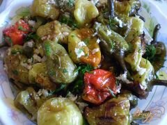 «Жареный болгарский перец с чесноком и зеленью» - приготовления блюда - шаг 4
