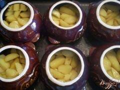 «Картофель с грибами и курицей в горшочке» - приготовления блюда - шаг 3