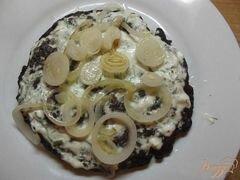 «Печеночный торт со сметаной и чесноком» - приготовления блюда - шаг 8