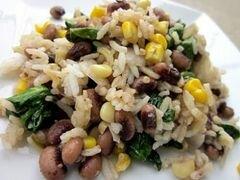 «Рис с горохом и шпинатом» - приготовления блюда - шаг 3