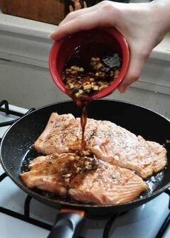 «Лосось в имбирном соусе» - приготовления блюда - шаг 9