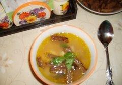 «Гороховый суп с сухариками» - приготовления блюда - шаг 12