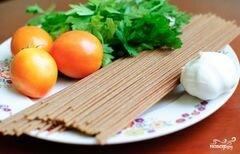 «Спагетти с базиликом и помидорами» - приготовления блюда - шаг 1