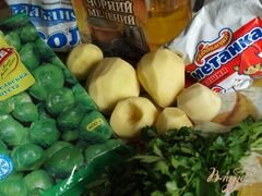 «Суп с брюссельской капустой» - приготовления блюда - шаг 1