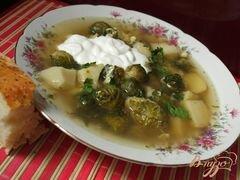 «Суп с брюссельской капустой» - приготовления блюда - шаг 3
