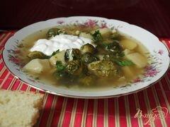 «Суп с брюссельской капустой» - приготовления блюда - шаг 4