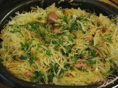 «Капуста тушеная с сосисками» - приготовления блюда - шаг 6
