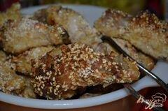 «Хрустящие куриные крылышки в кунжутном семени» - приготовления блюда - шаг 5