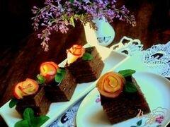 «Яблочно-абрикосовое пирожное (постное)» - приготовления блюда - шаг 9