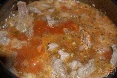 «Мясо тушеное в томате с фасолью» - приготовления блюда - шаг 6